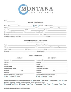 Montana-Dental-Arts-Missoula-Dentist-Patient-Registration